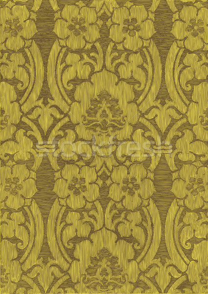 Yellow and khaki abstract striped floral pattern, vintage background. Seamless pattern can be used f Stock photo © cosveta