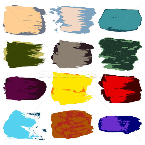 Vecteur brosse tache peinture acrylique main Photo stock © cosveta