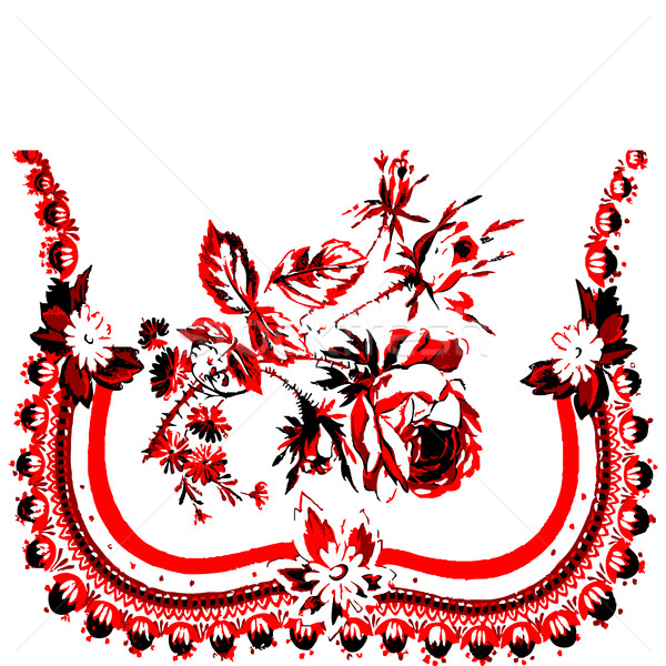 Template invitation or greeting card with lace fabric ribbon background Stock photo © cosveta