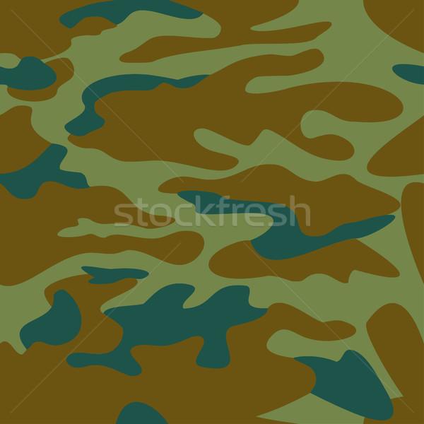 Camouflage pattern background seamless vector illustration. Clas Stock photo © cosveta