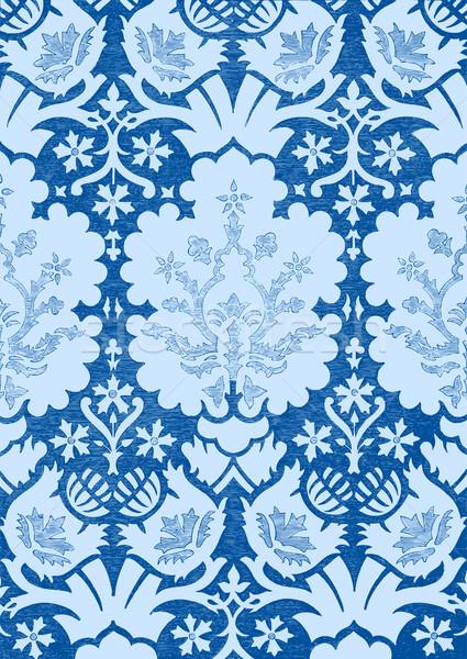 Resumen floral vintage azul luz Foto stock © cosveta