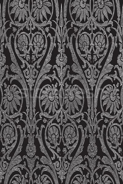 手描き シームレス 縞模様の ダマスク織 ベクトル 招待 ストックフォト © cosveta
