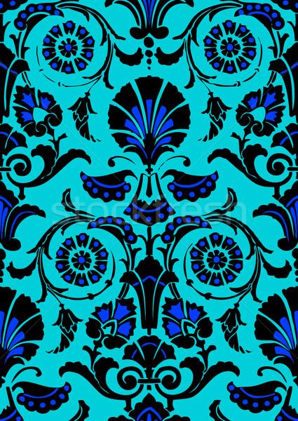 Stok fotoğraf: Mavi · siyah · soyut · model