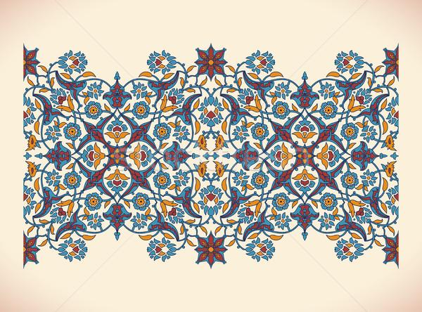 Arabesque vintage border elegant floral decoration printfor desi Stock photo © cosveta