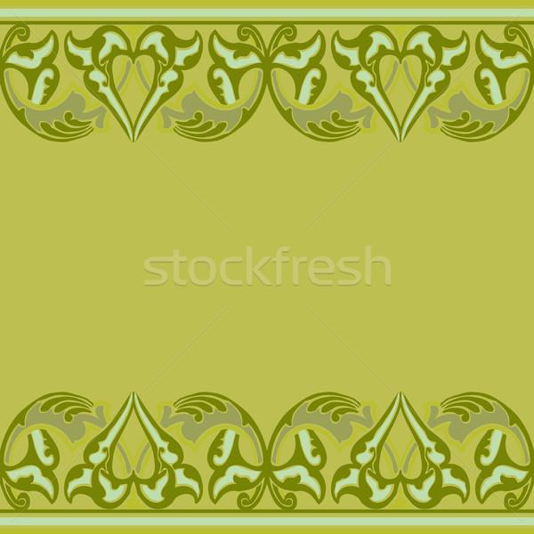Vector naadloos grens Oost stijl Stockfoto © cosveta