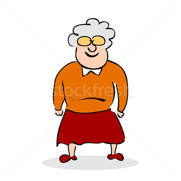 Funny starszych pani okulary babcia stałego Zdjęcia stock © cosveta