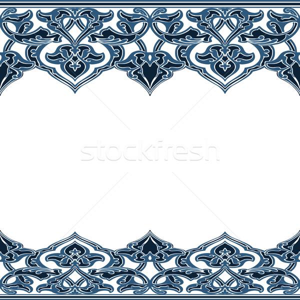 Vetor sem costura fronteira oriental estilo Foto stock © cosveta
