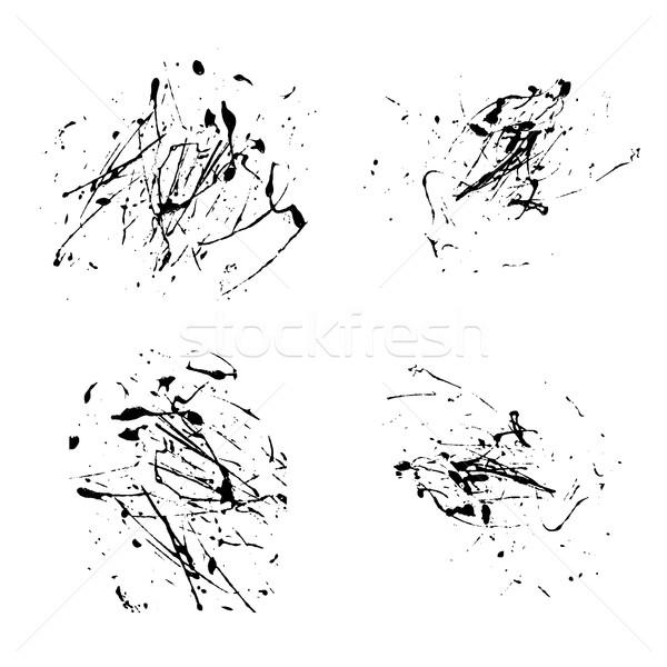 Vektör sıçramak boya soyut beyaz ayarlamak Stok fotoğraf © cosveta