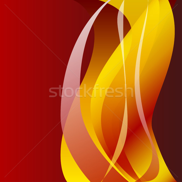Fire flame wave abstract background isolated  Stock photo © cosveta
