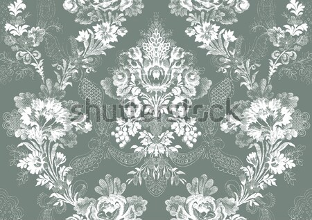 Damasco floral patrón resumen flor aumentó Foto stock © cosveta