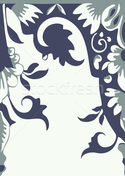 Vecteur floral frontière élément design Photo stock © cosveta