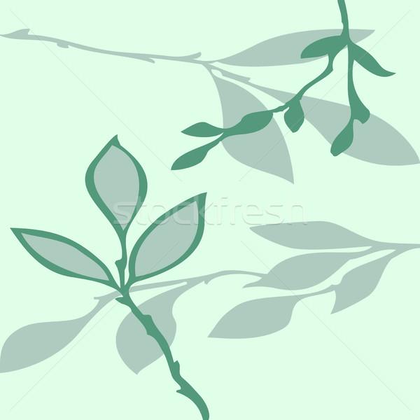 вектора аннотация шаблон листьев белый бумаги Сток-фото © cosveta