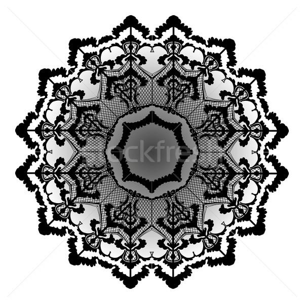 Vektor csipke virág klasszikus kör sok Stock fotó © cosveta