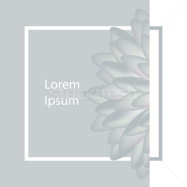 Typographical Background With flower. Square stroke poster Stock photo © cosveta