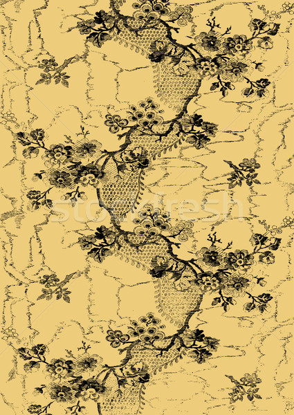 Abstract hand-drawn floral pattern, vintage background. Floral pattern can be used for wallpaper, te Stock photo © cosveta