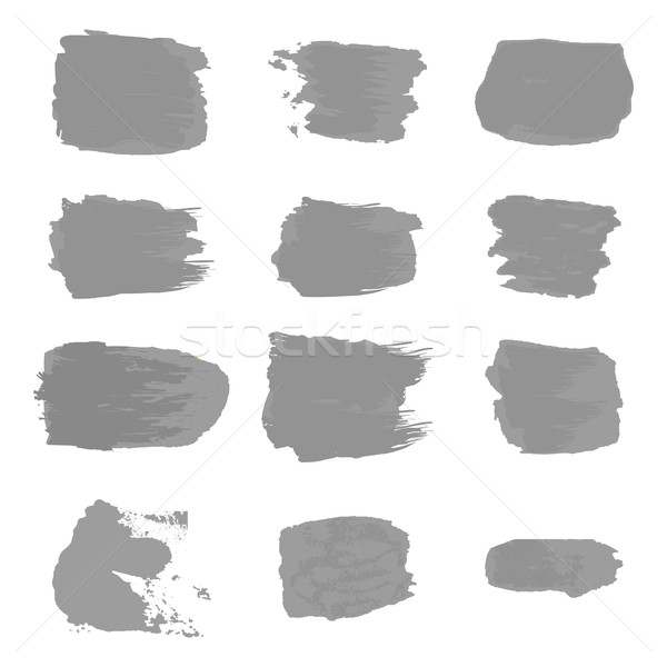 Vector brush stroke paint abstract on white background set hand  Stock photo © cosveta