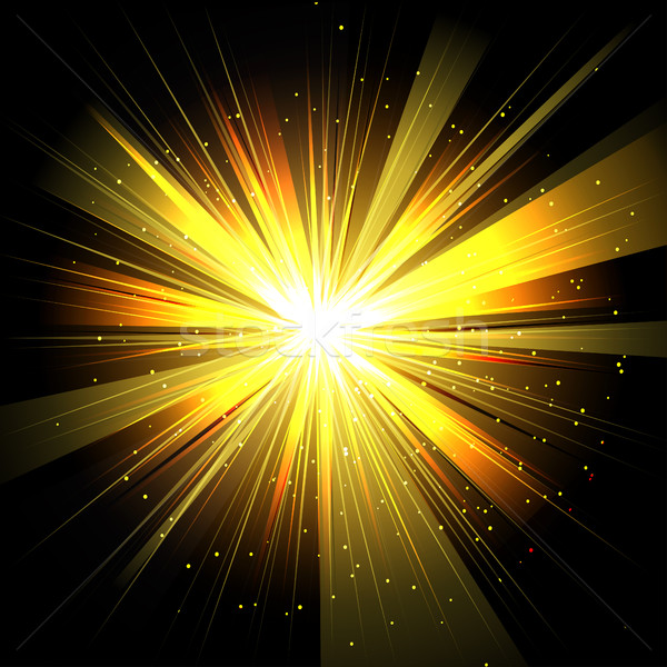 Star with rays white yellow in space isolated and effect tunnel  Stock photo © cosveta