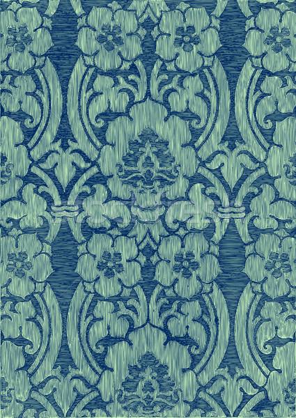 Imprimir turquesa abstrato listrado floral padrão Foto stock © cosveta