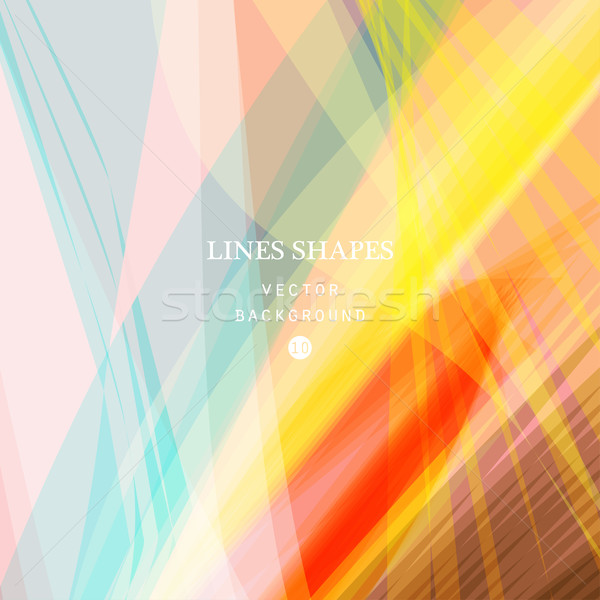 Parlak renkli modern çizgili soyut vektör Stok fotoğraf © cosveta