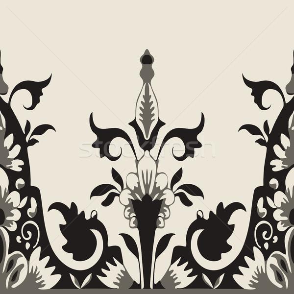 Vector sin costura floral frontera elemento diseno Foto stock © cosveta
