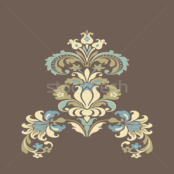Kolorowy adamaszek kwiatowy projektu wzór Zdjęcia stock © cosveta