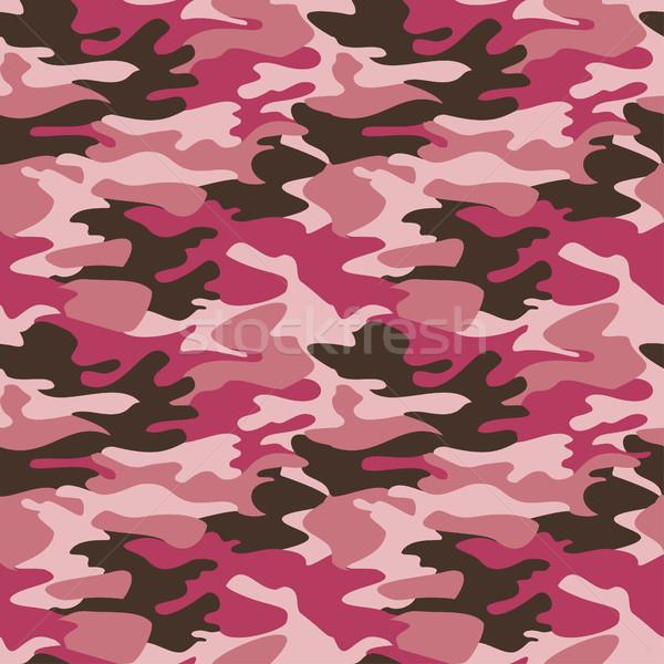 Kamuflaż wzór bezszwowy wektora tekstury tle Zdjęcia stock © cosveta