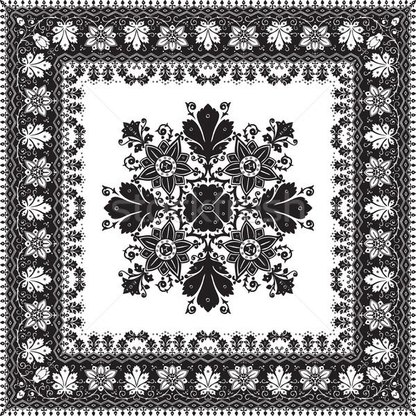 Resumen étnicas floral patrón diseno vector Foto stock © cosveta