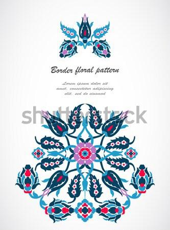 Arabesque vintage ornate border damask floral decoration print f Stock photo © cosveta