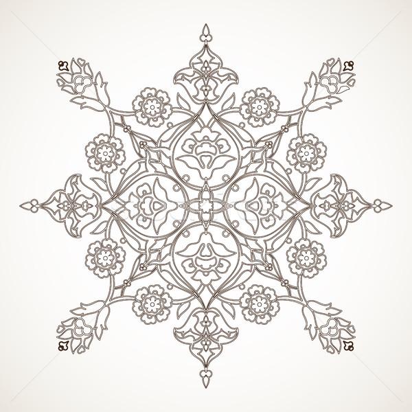 Vintage цветочный украшение печать дизайна Сток-фото © cosveta