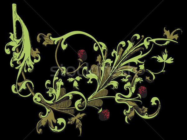 Isolado árvore morango decoração imprimir baga Foto stock © cosveta