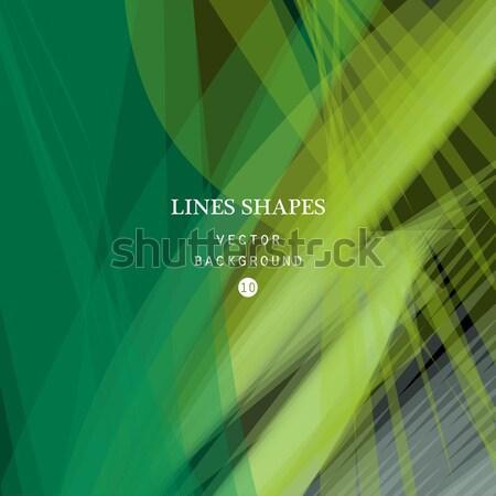 Abstract verde vettore banner trasparente onda Foto d'archivio © cosveta