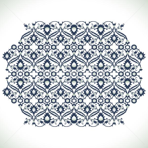 Zdjęcia stock: Vintage · adamaszek · kwiatowy · dekoracji · koronki · wydruku