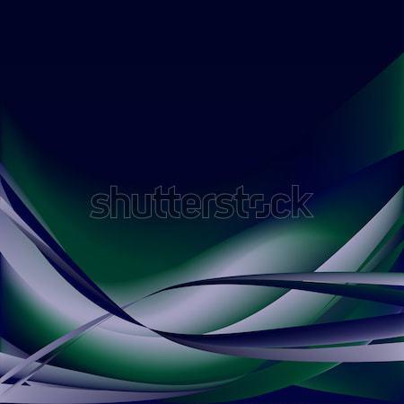 Ondas abstrato azul escuro colorido verde Foto stock © cosveta