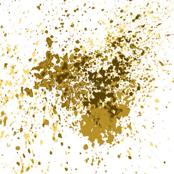 Vektor Gold malen splash splatter glänzend Stock foto © cosveta