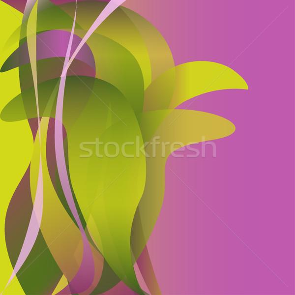 Renkli dalgalar çiçek yalıtılmış soyut pembe Stok fotoğraf © cosveta