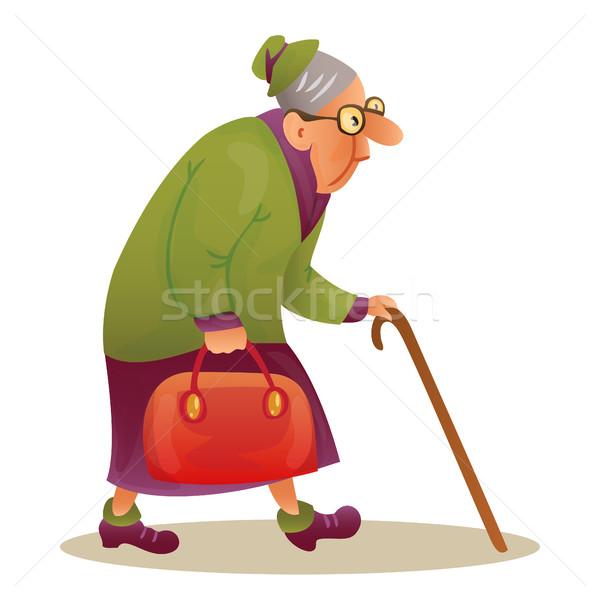 商业照片: 滑稽 · 长者 · 女士 · 眼镜 · 祖母 ·粘