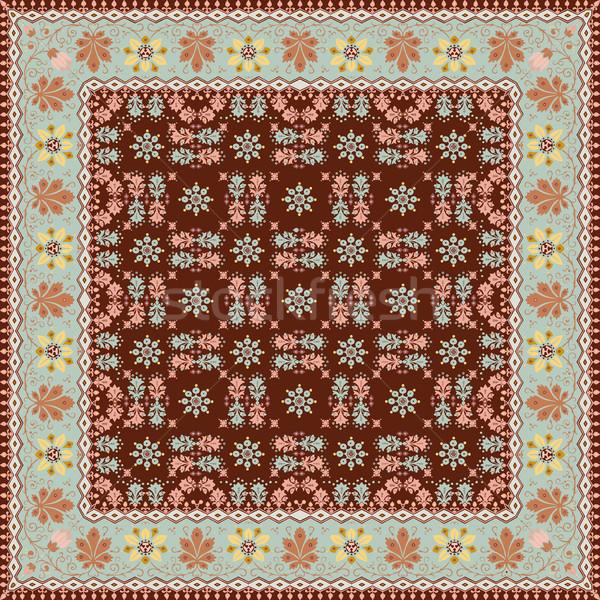 Abstrato étnico floral padrão projeto vetor Foto stock © cosveta