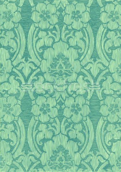 Turqouise abstract striped floral pattern, vintage background. Seamless pattern can be used for wall Stock photo © cosveta