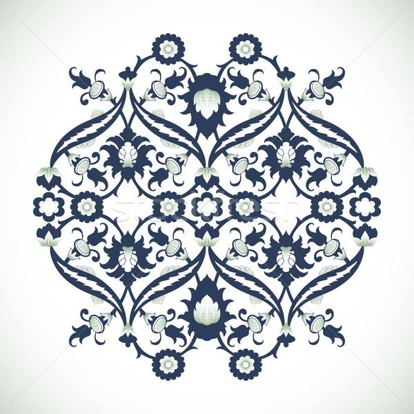 Vintage damasco floral decoração renda imprimir Foto stock © cosveta