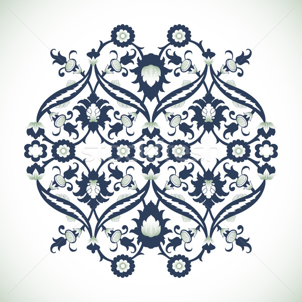 Vintage damasco floral decoración encaje impresión Foto stock © cosveta