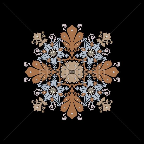 Stok fotoğraf: Etnik · çiçekler · buket · süs · yalıtılmış · vektör