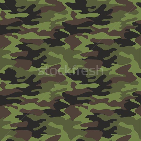 Camouflage patroon naadloos klassiek kleding stijl Stockfoto © cosveta