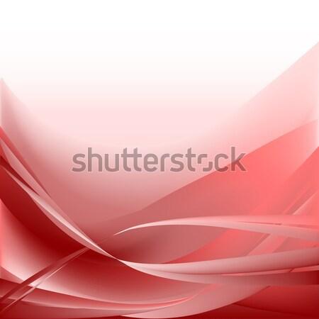 Vagues résumé rouge coloré feu technologie Photo stock © cosveta