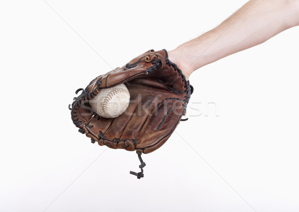 baseball glove and ball Stock photo © courtyardpix