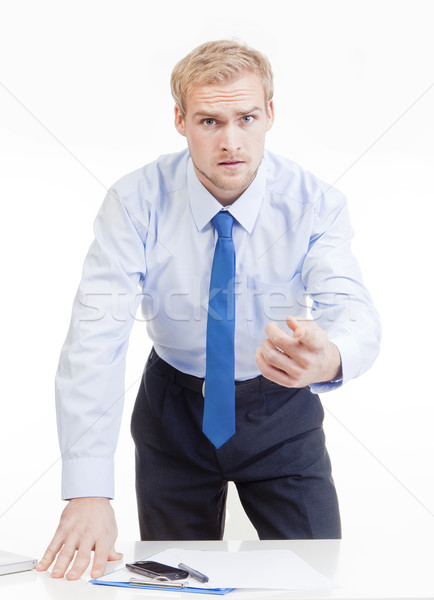 angry boss behind desk Stock photo © courtyardpix