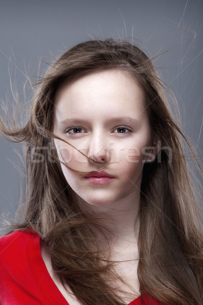 young girl posing as a model Stock photo © courtyardpix