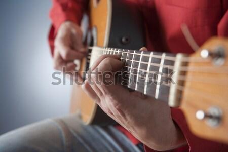 クローズアップ 手 ミュージシャン 演奏 文字列 ストックフォト © courtyardpix