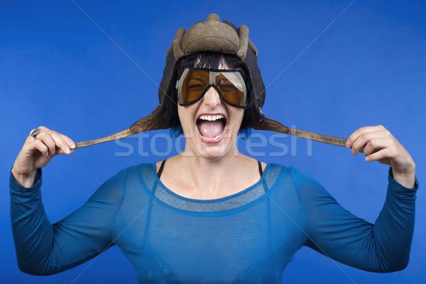 woman with helmet Stock photo © courtyardpix
