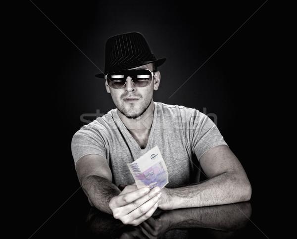 man in hat and sunglasses Stock photo © courtyardpix