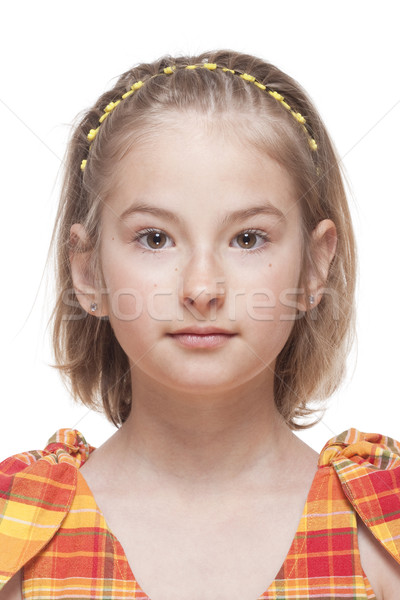 Portrait of a Little Girl with Blond Hair  Stock photo © courtyardpix